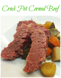 Crock pot corned beef is simple to make with less than 10 minutes prep time. No cabbage in this recipe, but carrots and potatoes for a gluten free feast!