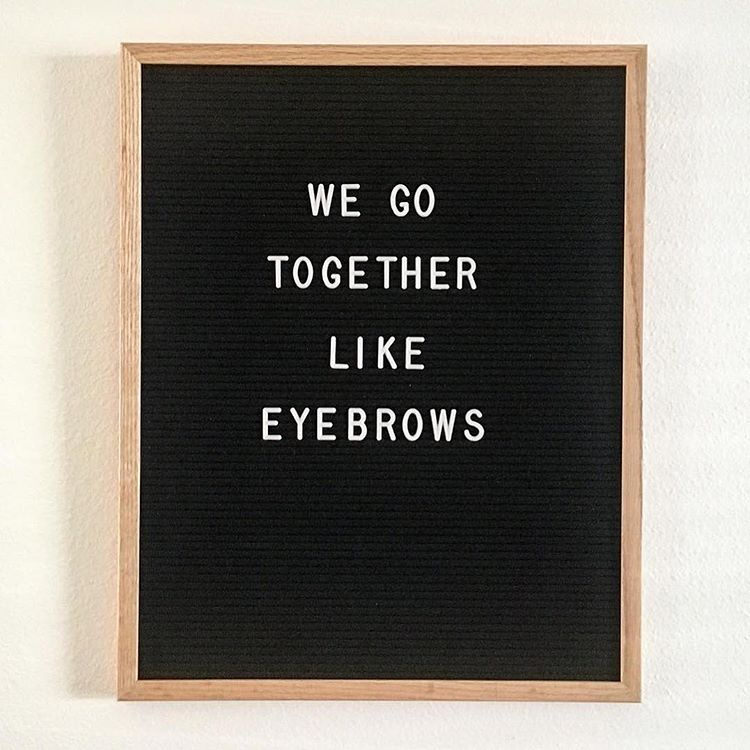 """Another installment of """"husband gets ahold of letter board."""" I guess it's true... : @_mrs.clarissa_"""