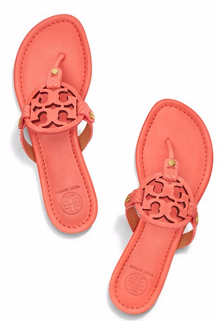 c477c65df Love these Tory Burch Miller sandals in coral