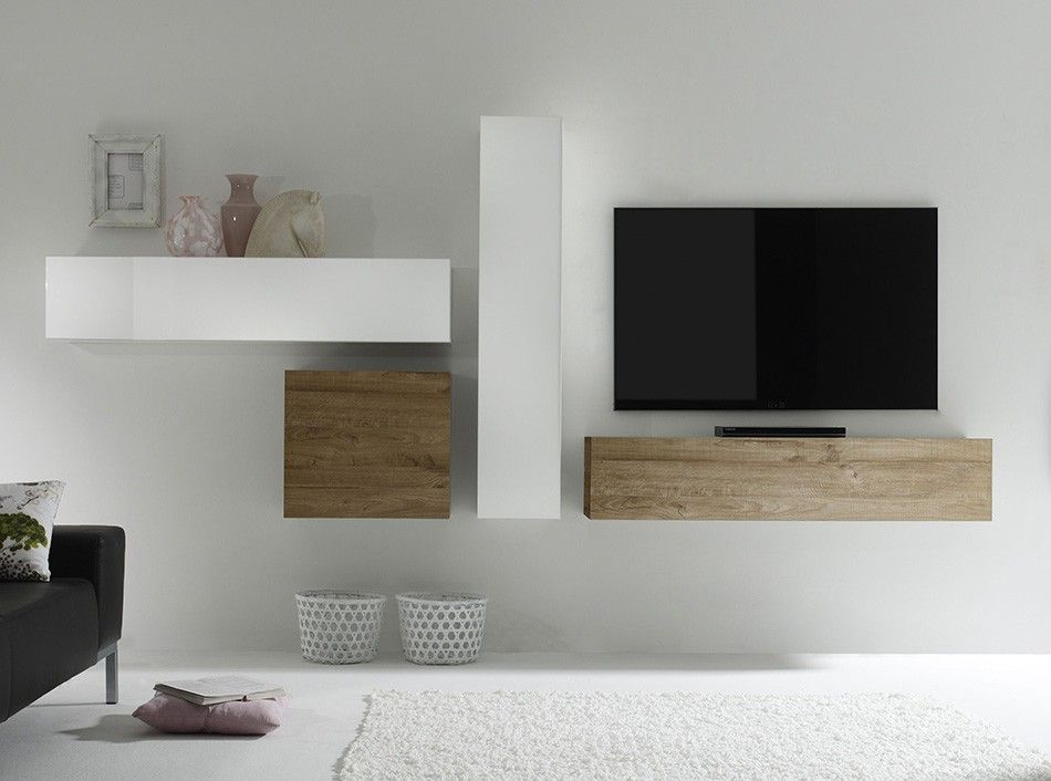 Mobili spinelli ~ Modern italian wall unit composition cube by lc mobili