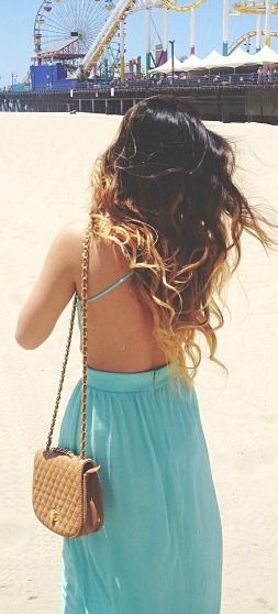 Backless Mint Maxi <3