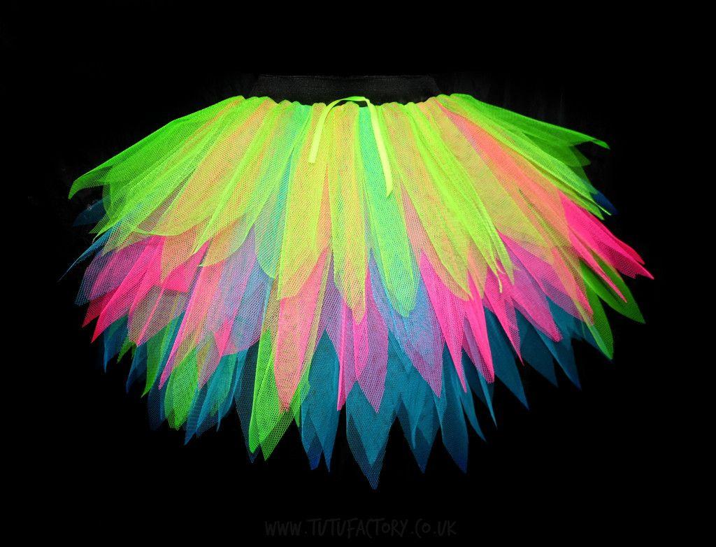 7439328309f Neon Vibe Spikey Tutu Longer Length tutu www.tutufactory.co.uk