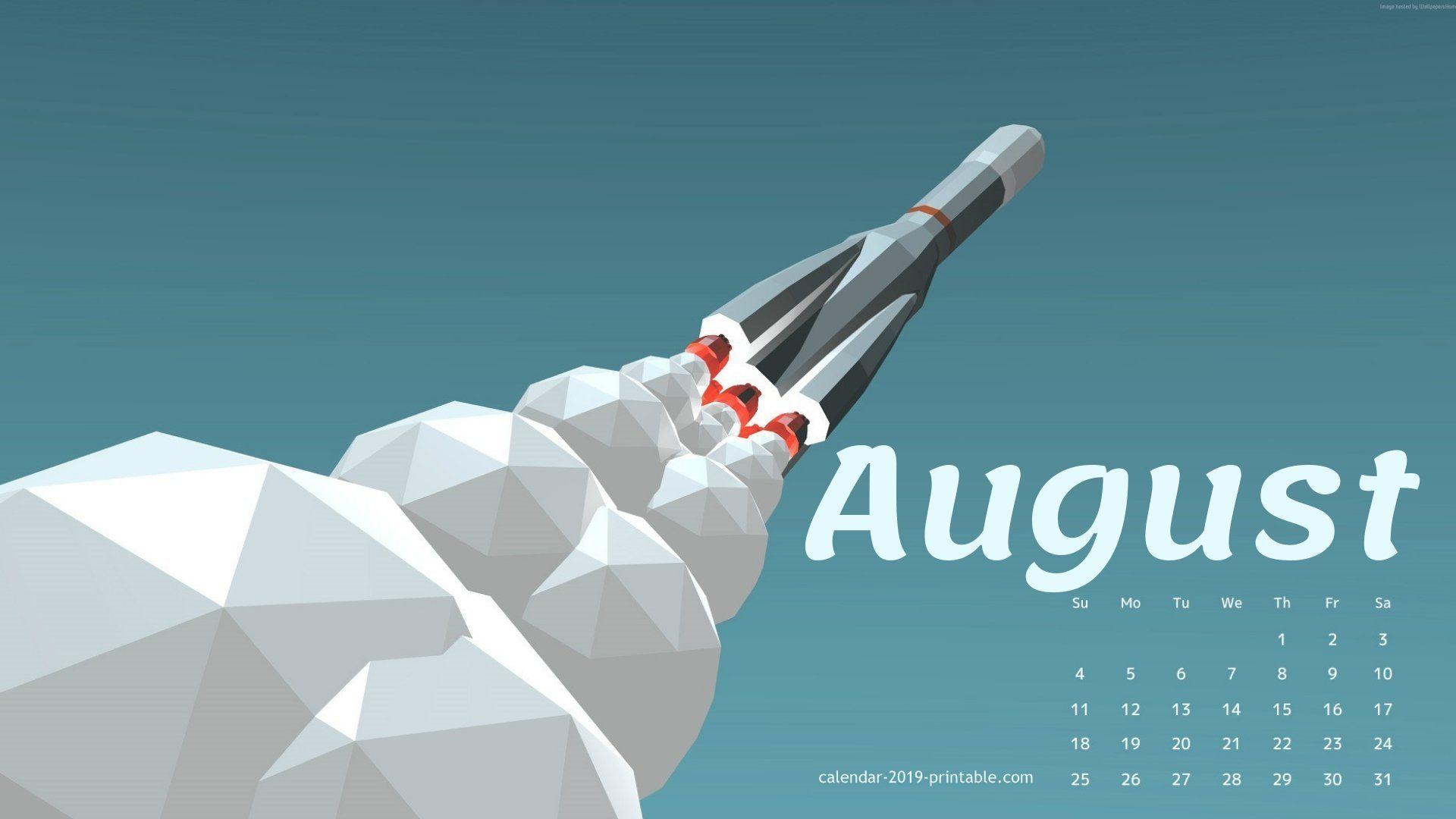 August 2019 Cute Calendar Wallpaper Calendar Wallpaper Wallpaper 2019 Calendar
