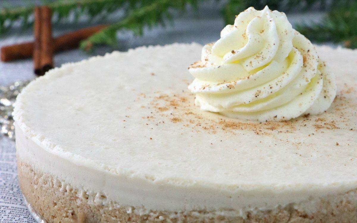 Eggnog Cheesecake [Vegan] #eggnogcheesecake