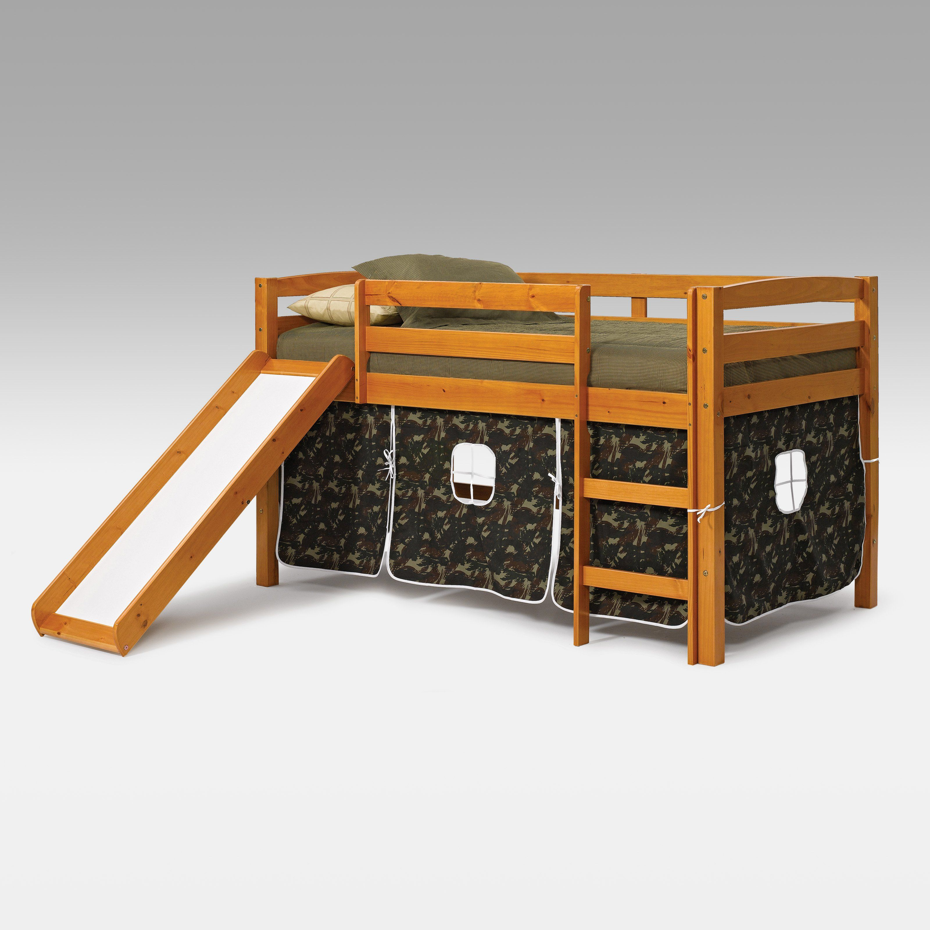 Camo loft bed with slide  Have to have it Colton Tent Loft Bed with Slide   Grandkids
