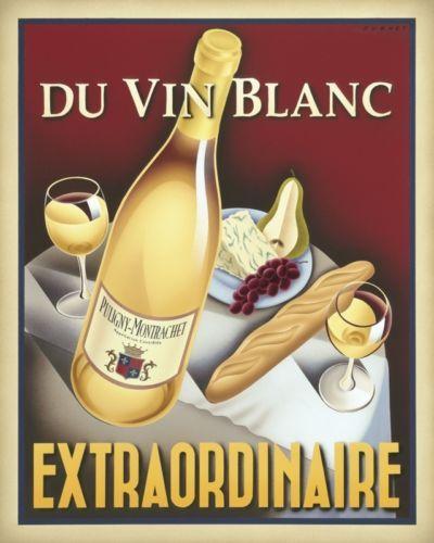 WINE ART PRINT  Du Vin Rouge Exceptionnel by Steve Forney 30x24 Retro Bar Poster