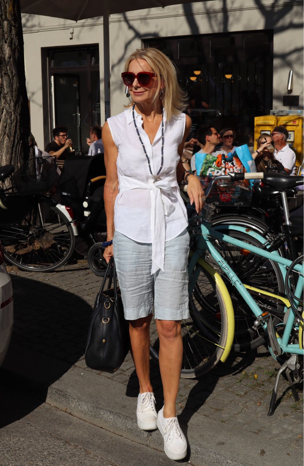 Leinen Look Für Die Fahrradtour Fashion Cool Outfits Day Trip Outfit