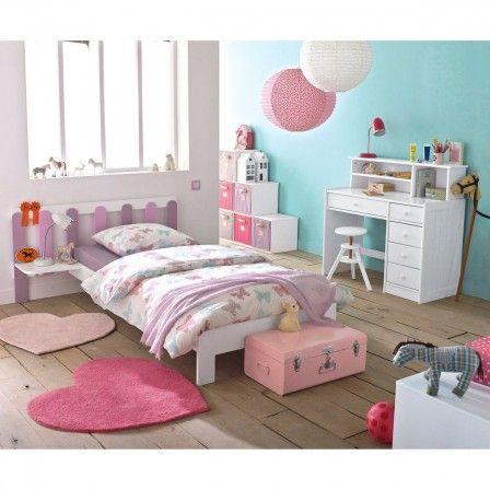 Lit chambre fille romantique lit enfant - Chambre de petite fille de 8 ans ...
