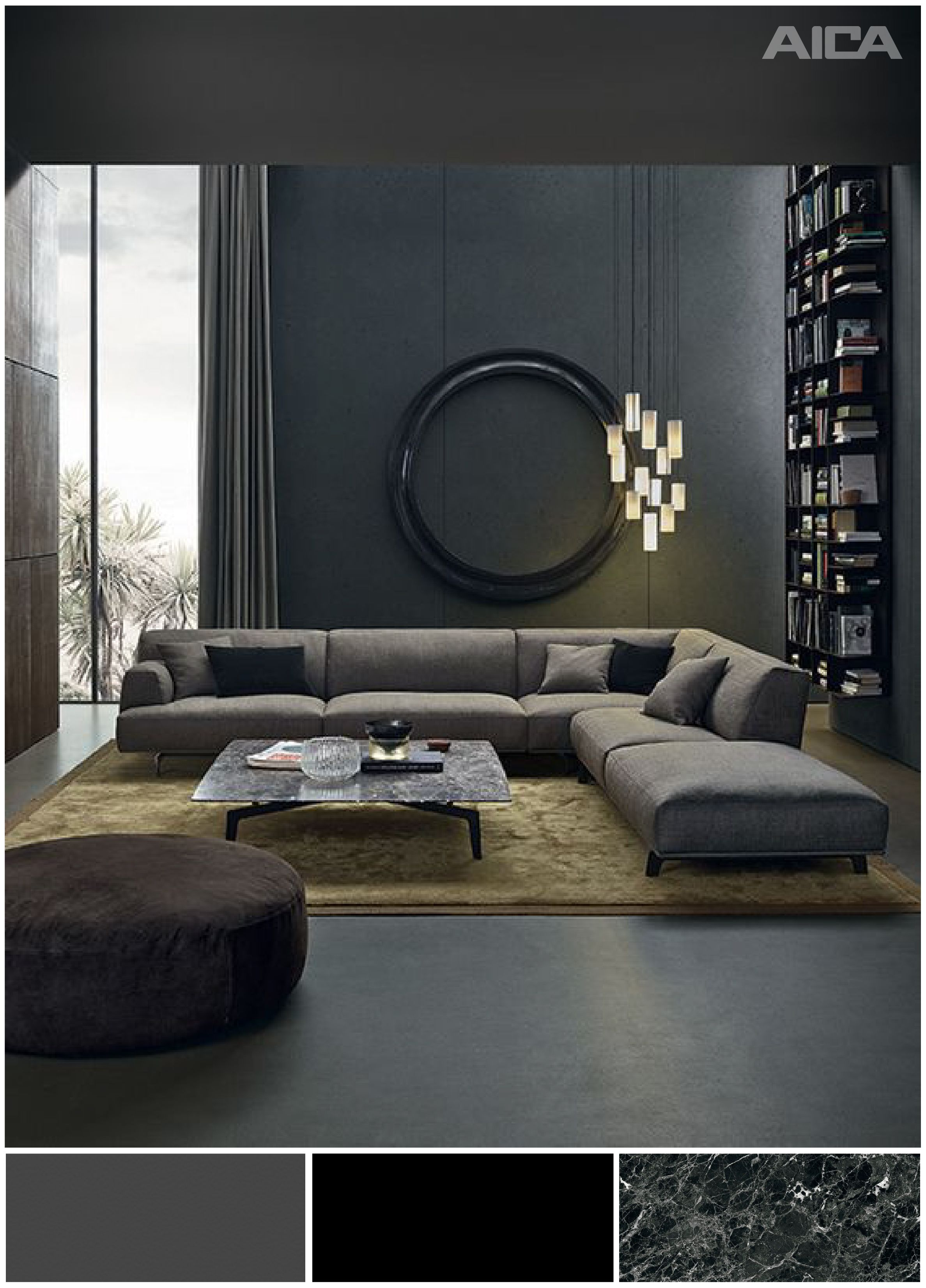 Pin By Nader Zainal On Living Room Living Room Grey Low Sofa