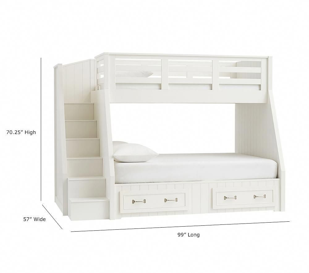 Pottery barn loft bed with desk  Belden TwinOverFull Stair Loft Bed  Pottery Barn Kids