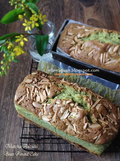 Cuisine Paradise | Singapore Food Blog - Recipes - Food Reviews - Travel: Assorted Cakes For Tea ~ Matcha Auzuki Bean Pound Cake