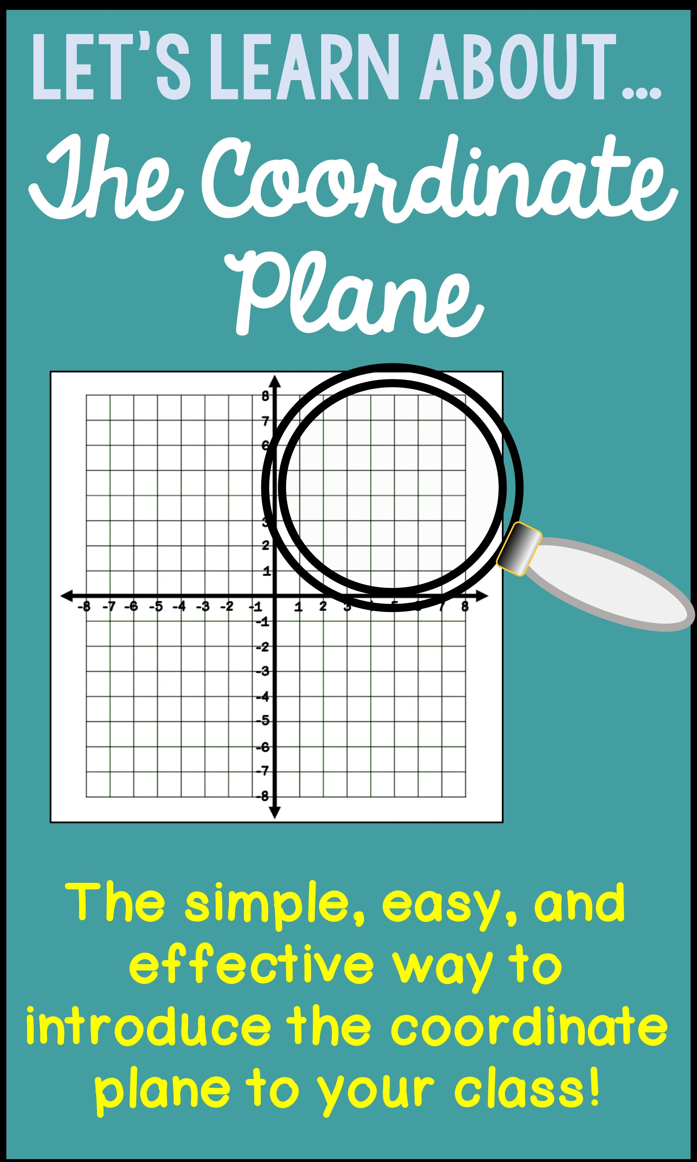Do You Need To Introduce Coordinate Graphing To Your Class
