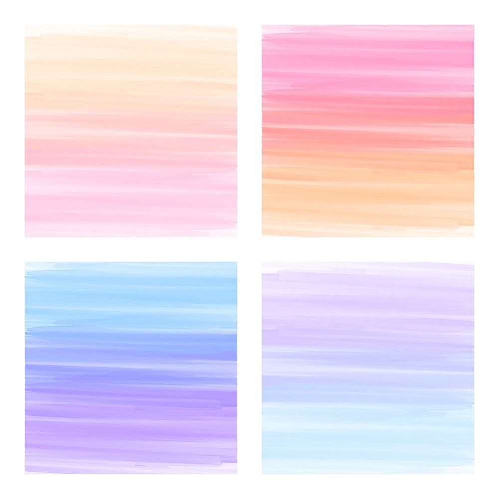 Rainbow Stripes Watercolor Papers Rainbow Painting Digital