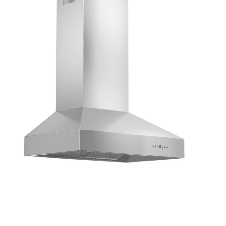 Zline Kitchen Bath 36 In Ducted Stainless Steel Wall Mounted Range Hood Lowes Com Wall Mount Range Hood Stainless Steel Range Hood Stainless Steel Range
