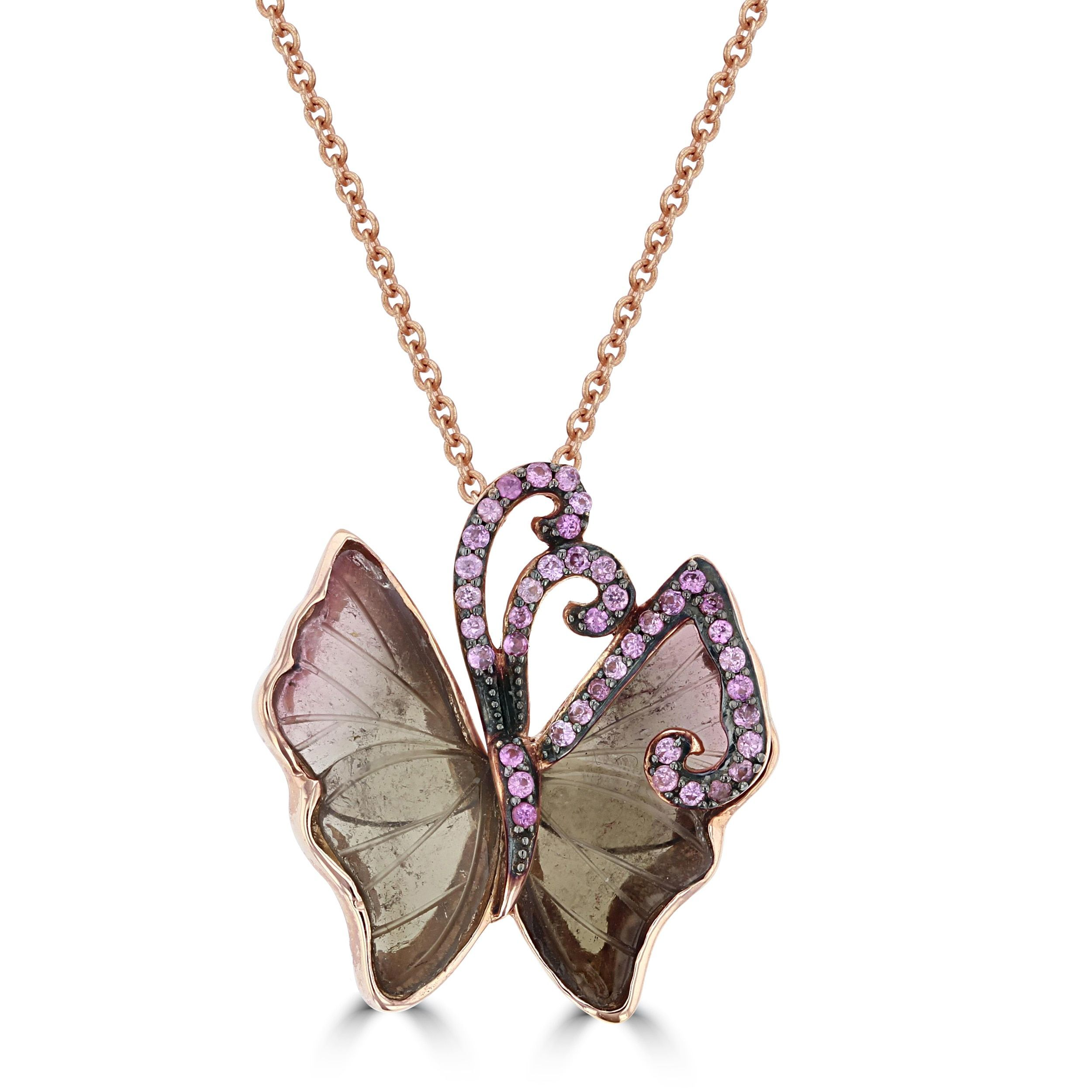 pair by butterfly of pink and a crevoshay from pin fire sapphire earrings paula opal
