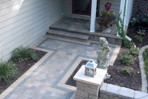 Front Yard Paver Patio Designs Pavers For Small Yards Small