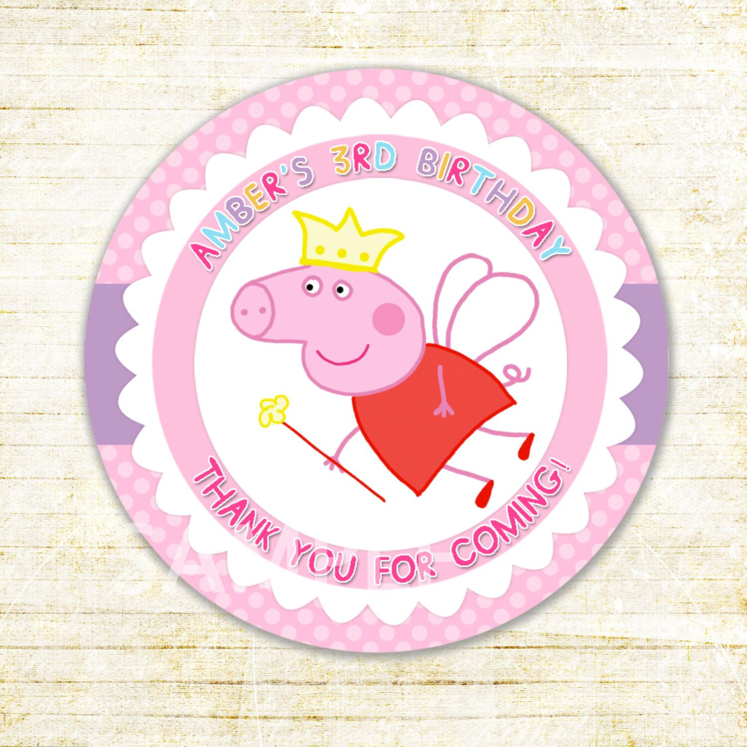 peppa pig tag peppa pig thank you stickers peppa pig birthday