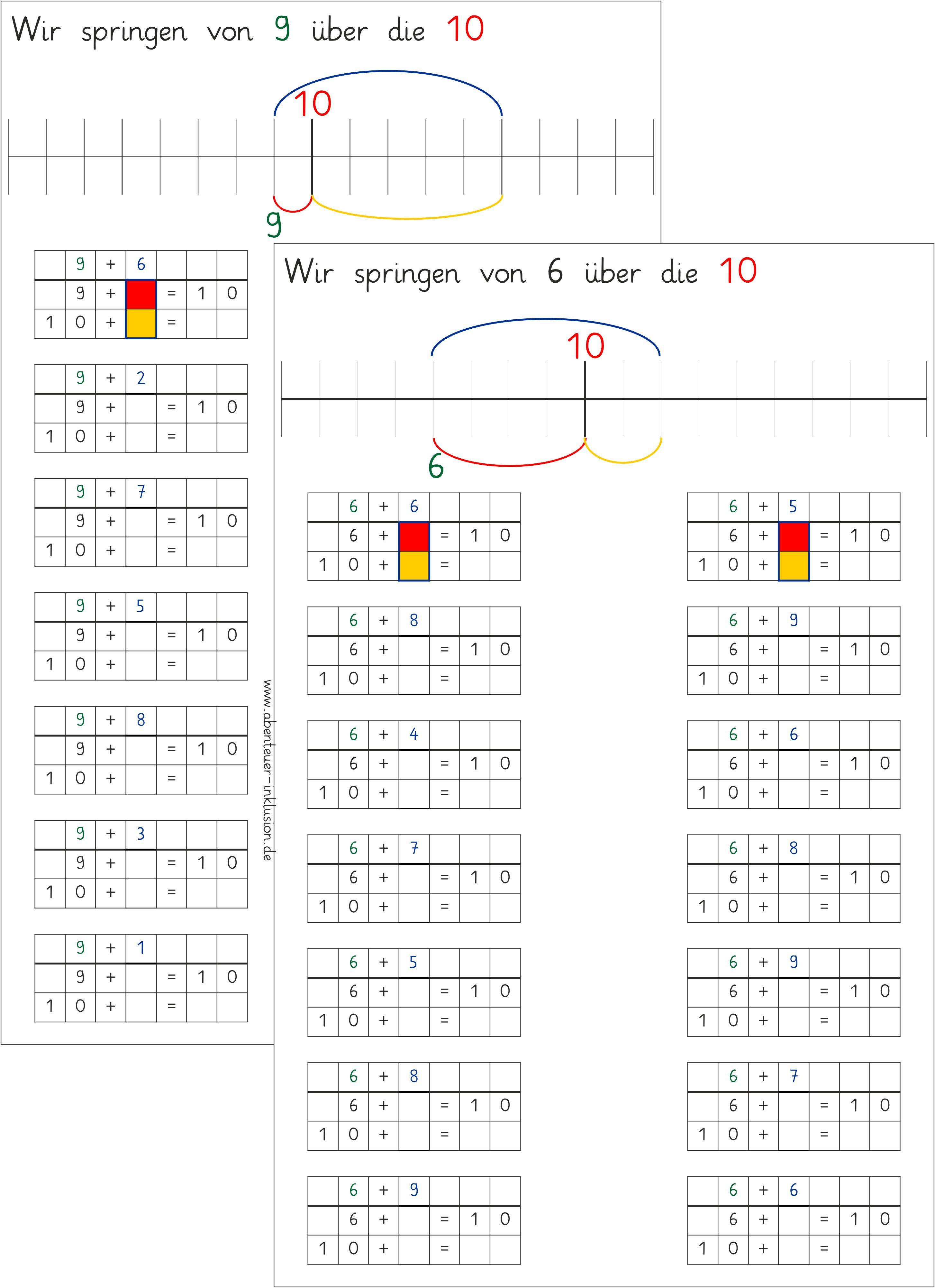 Zehnerübergang   Mathe   Pinterest   Mathe, Schule und Lernwerkstatt