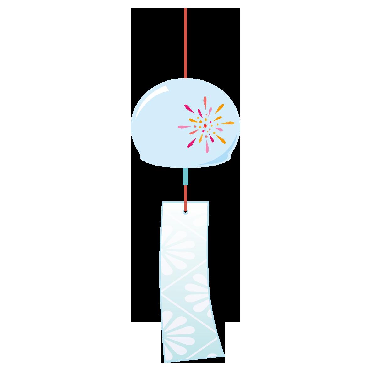 涼し気に揺れる風鈴 風鈴 イラスト イラスト 無料 イラスト 素材
