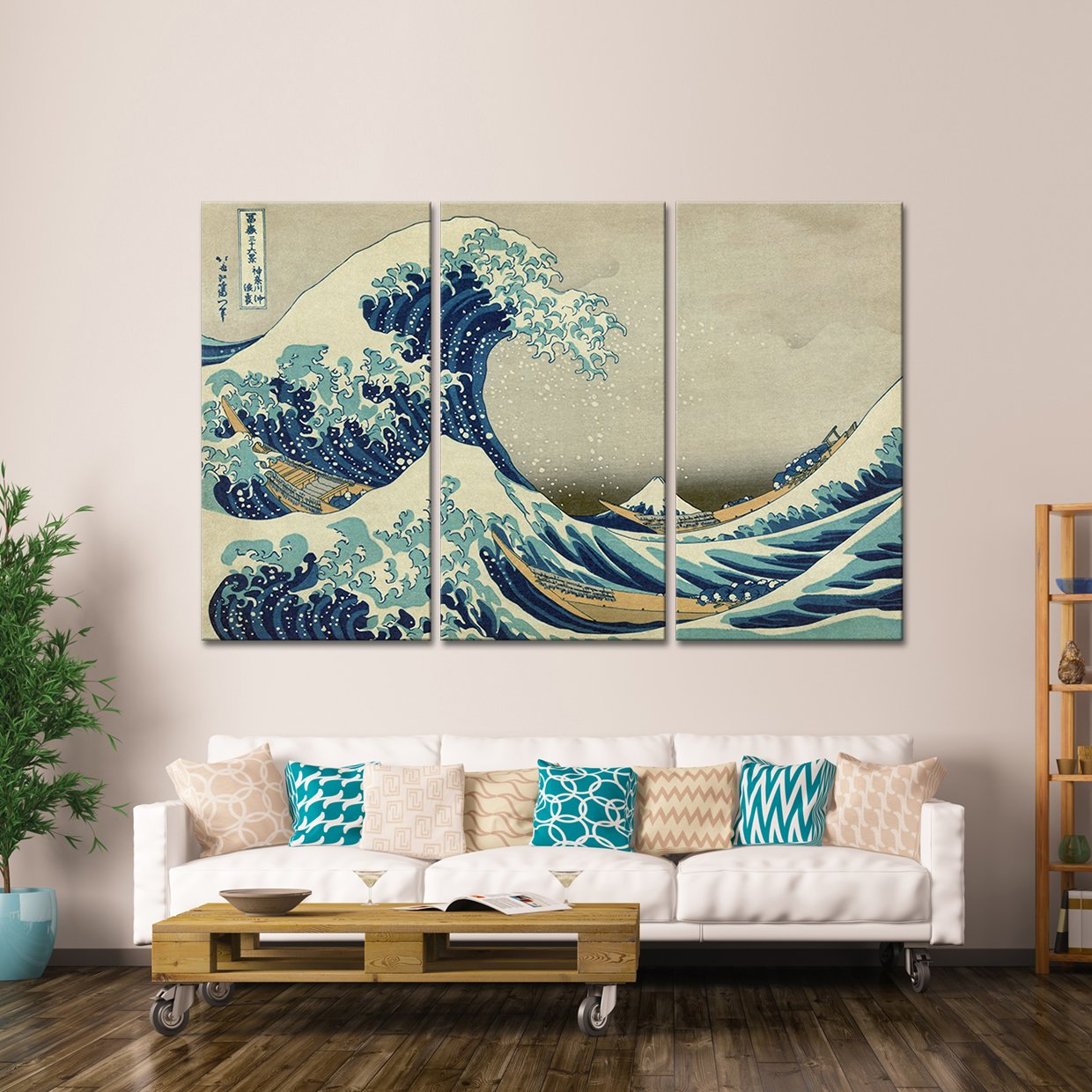 The Great Wave Off Kanagawa Multi Panel Canvas Wall Art Canvas Wall Art Cheap Wall Art Multi Panel Canvas