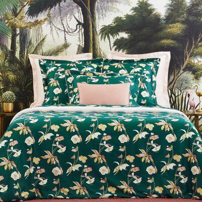 Photo of Yves Delorme Miami 300 Thread Count 100% Cotton Geometric Fitted Sheet | Perigold
