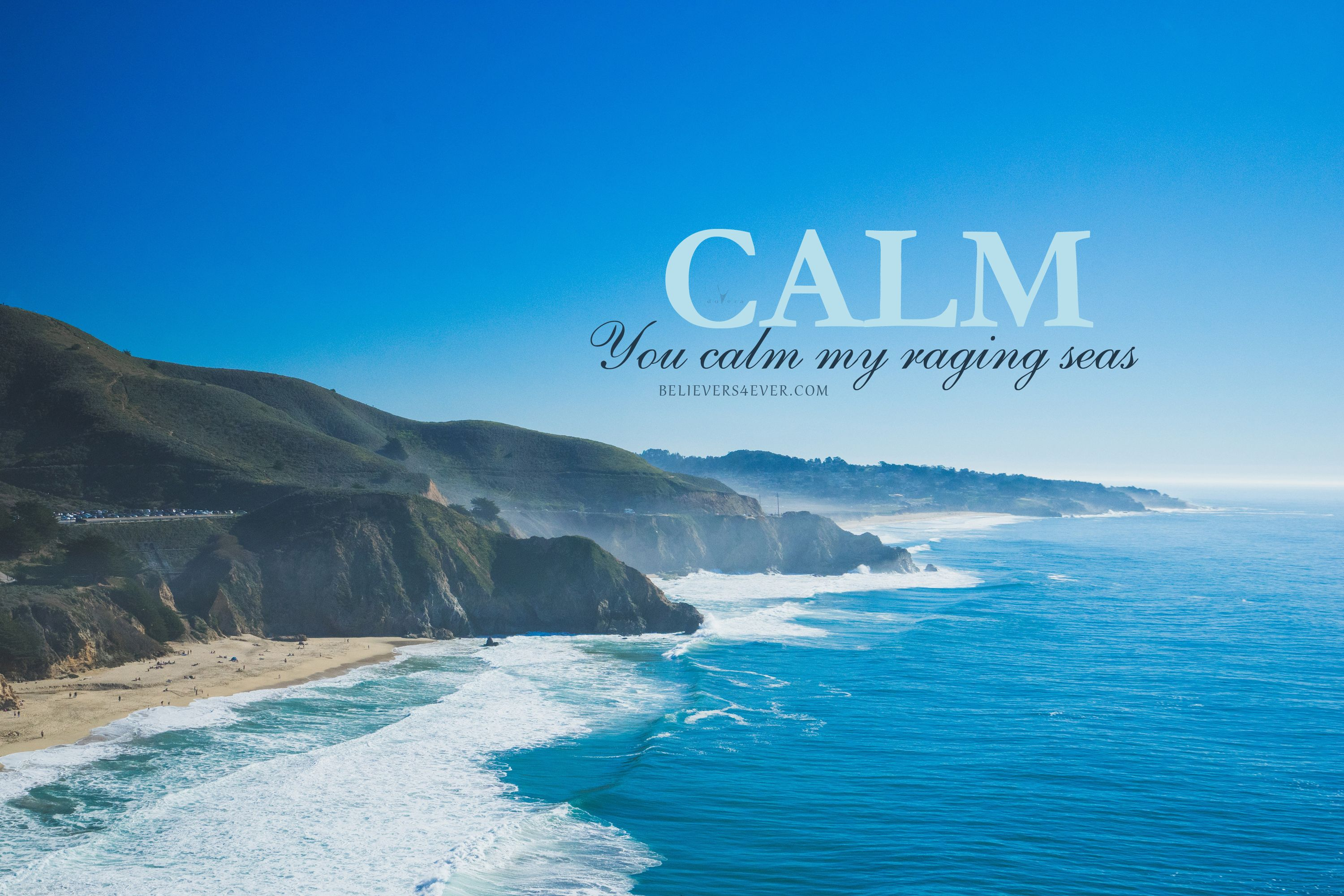 You calm my raging seas Christian wallpaper, Free