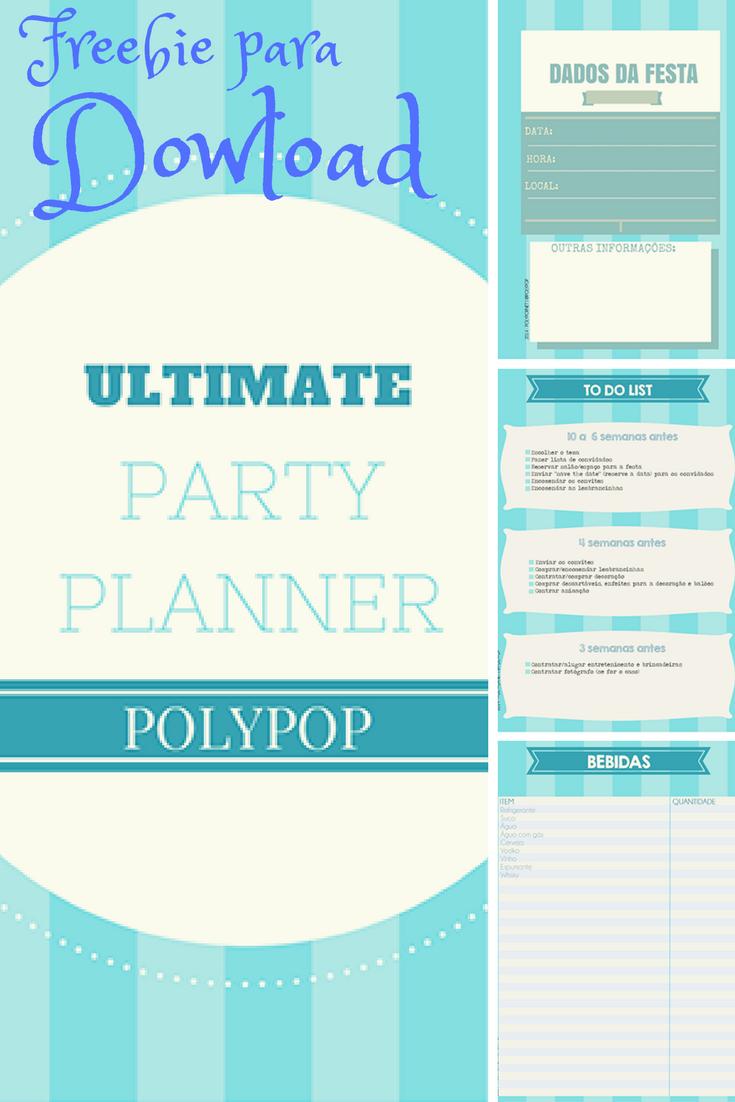 Download gratuito de um party planner
