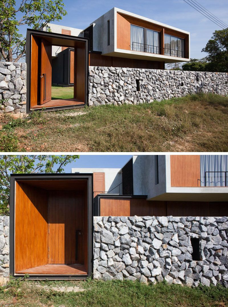 This House In Thailand Is A Balance Between Concrete And Glass Fence Design Concrete Houses Exterior Design