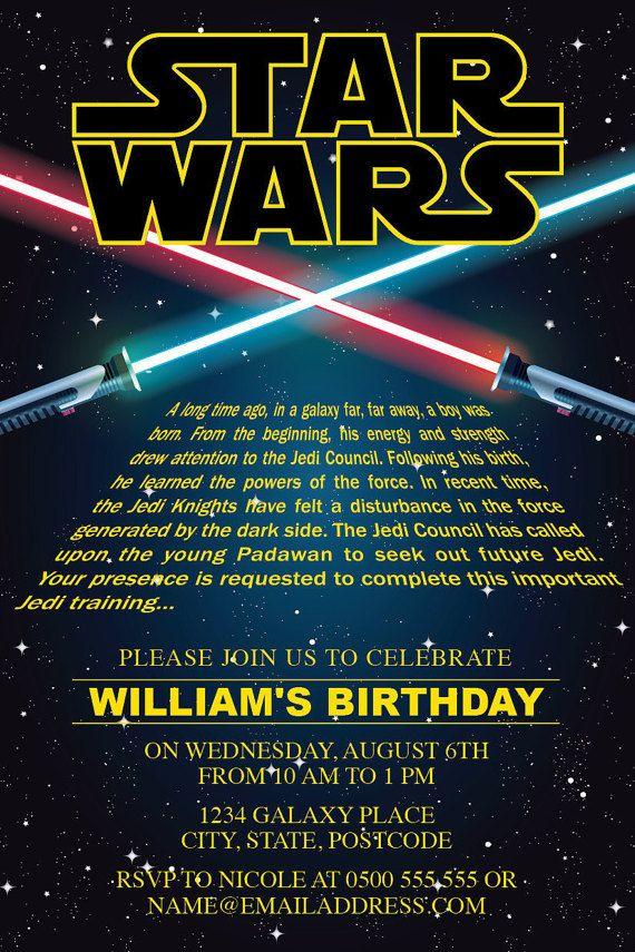 Star Wars Invitation Editable Text By Encorekidsparties On Etsy Star Wars Invitations Star Wars Birthday Invitation Star Wars