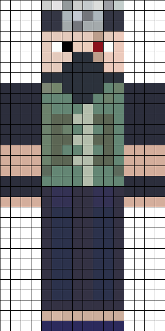 Ethoslab Minecraft Skin Inspired By Kakashi Hatake Perler