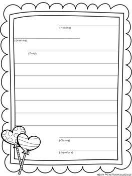 Freebie Friendly Letter Writing Template Plus Contraction Practice Samples Friendly Letter Writing Letter Writing Template Letter Template For Kids