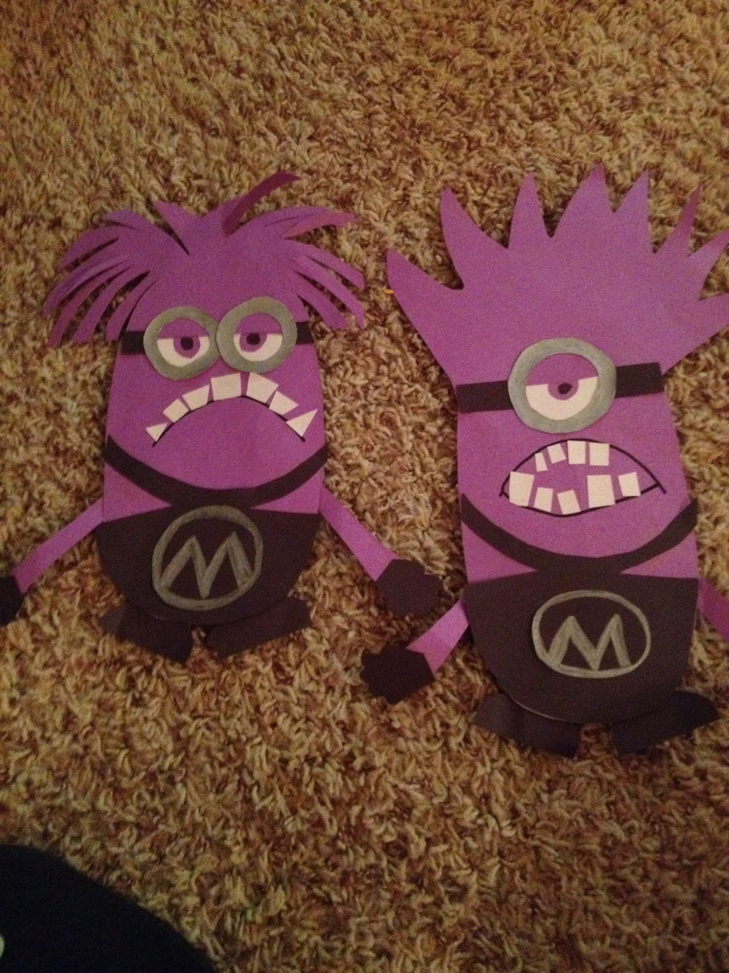 Purple minion craft construction paper things i love for Where to buy contact paper for crafts