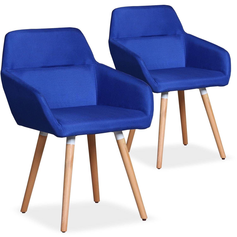 Fauteuil Scandinave Bleu Avec Accoudoirs Et Dossier Tres Confortables Fauteuil Jardin Fauteuil Meuble Deco