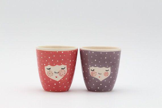 Set of 2  Handmade ceramic cup  ceramic by MarinskiHandmades