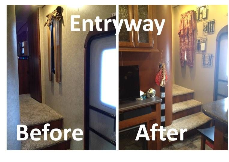 Fifth Wheel Remodel Before And After Rv Makeover