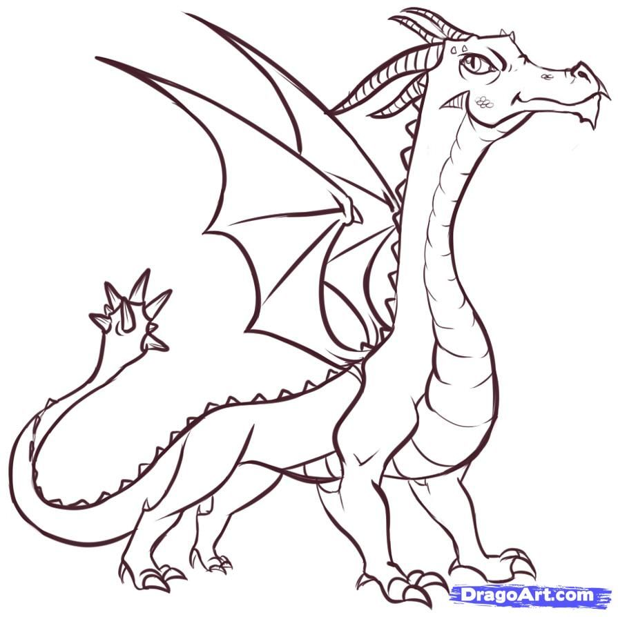 Uncategorized Dragon To Draw how to draw easy dragons step 17 pinterest 17
