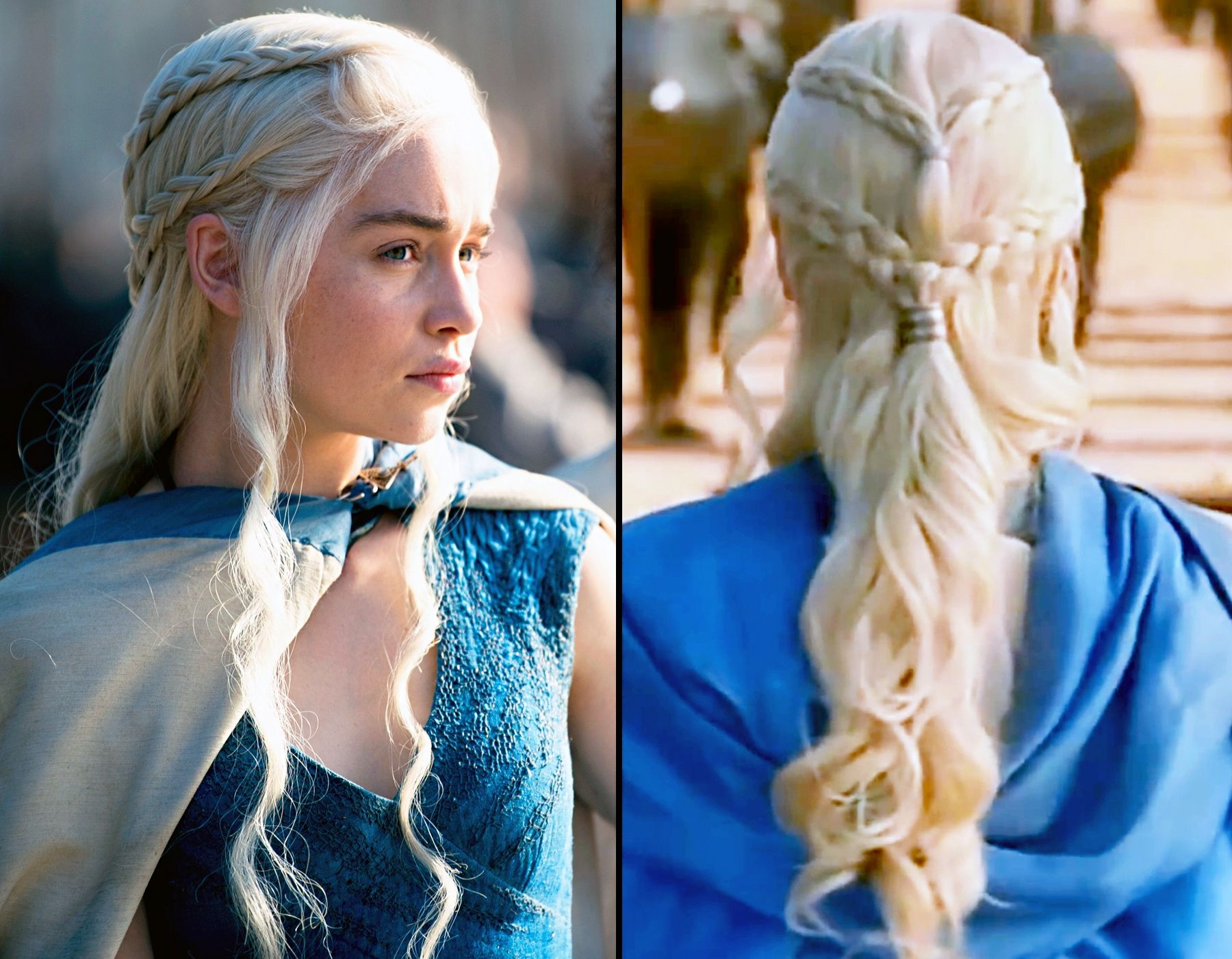 game of thrones braid tutorial copy daenerys 39 elaborate hairstyle prom hairstyles hair. Black Bedroom Furniture Sets. Home Design Ideas