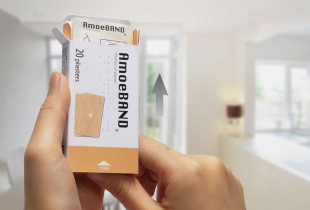 Amoeband A Bandage Concept That Alerts You Of Infections Band Aid Fit Band Hand Injuries