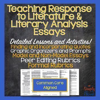 006 Response to Literature (Literary Analysis or Lit Response