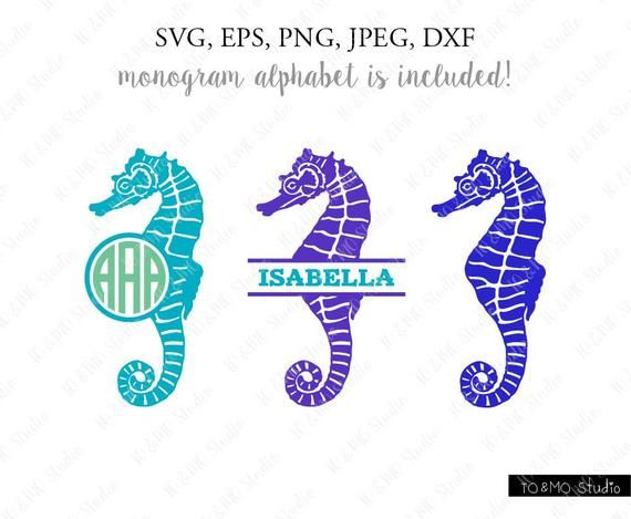 Seahorse Svg, Seahorse monogram Svg, Monogram Svg, Sea Clipart Svg, Summer SVG, Monogram Letter Svg, Easy Cut, Cricut, Silhouette Cut File #programingsoftware
