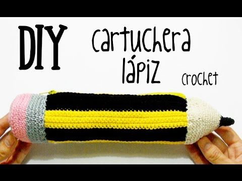 DIY Cartuchera-estuche lápiz crochet/ganchillo (tutorial) - YouTube