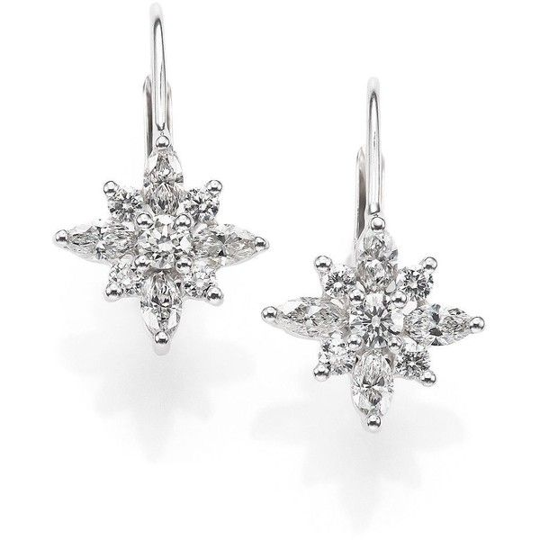 Kwiat Diamond & Platinum Star Drop Earrings ($4,045) ❤ liked on Polyvore featuring jewelry, earrings, apparel & accessories, white diamond, kwiat, diamond jewelry, platinum earrings, diamond jewellery and star jewelry
