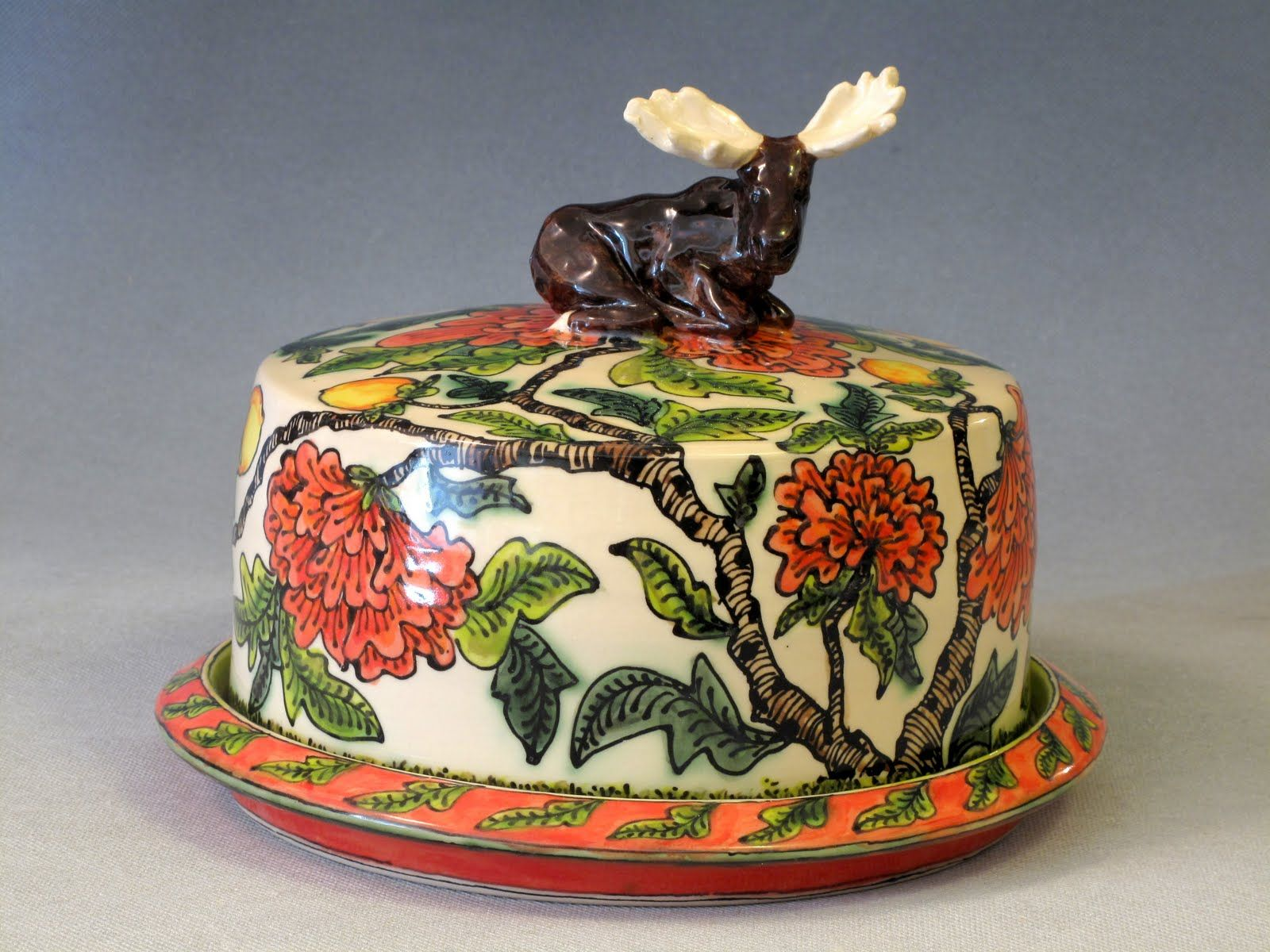moose cake saver, 23 x 14 cm Cake stand decor, Moose