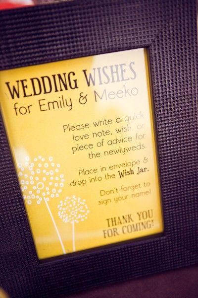 Wedding Wishes Reception Decor Wish Jar Tag By Frenchieandflea