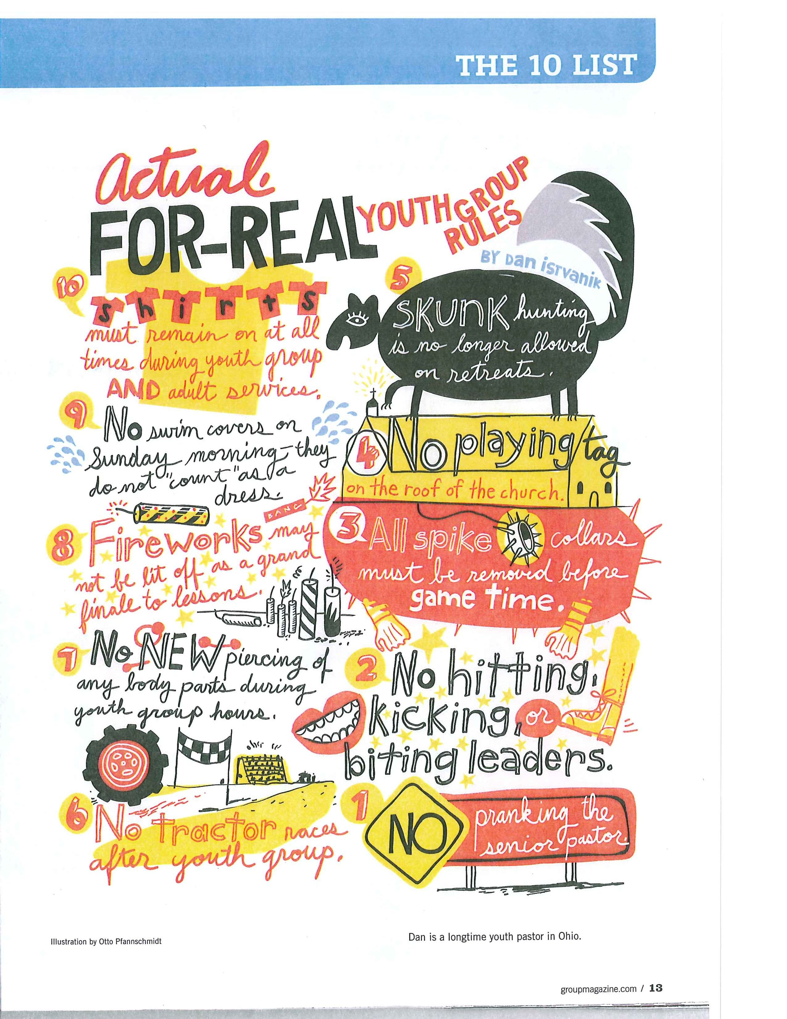Top 10 Real Youth Group Rules I Like The Way This