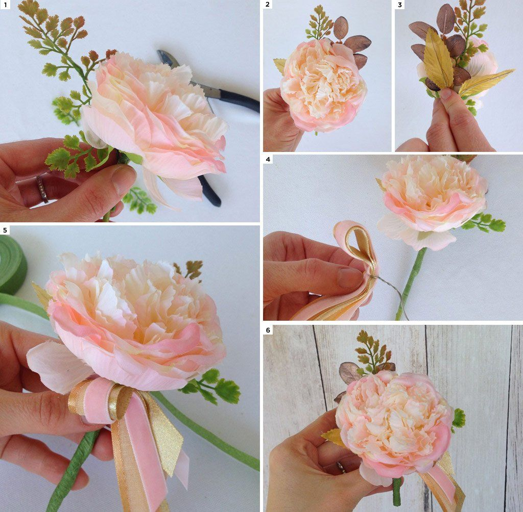 How to make a prom corsage boutonniere prom corsage