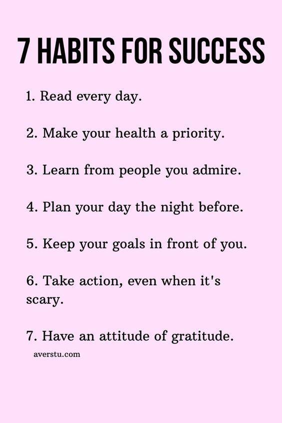 7 Habits For Success