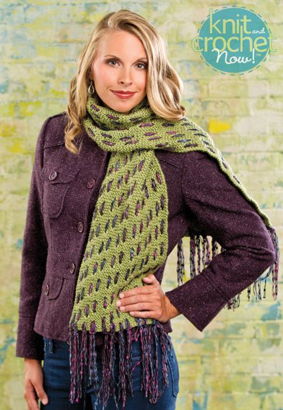 Free Knitting Pattern Download This Woven Mesh Scarf Designed By