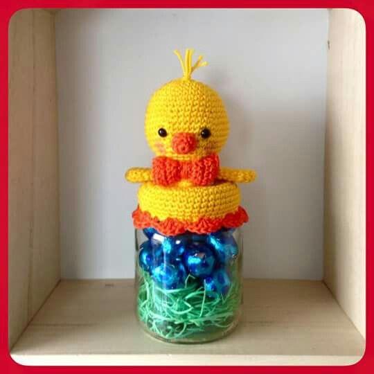 Jar toppers | crochet | Pinterest | Frascos, Frascos decorados y ...