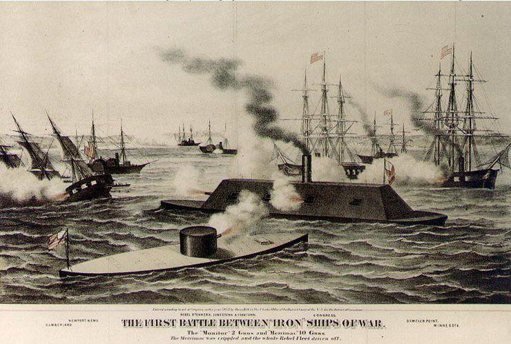 a comparison of the uss monitor and the css virginia At dawn march 9,1862 the ironclads css virginia and the uss monitor battled  compare and contrast the strategies of the southern secretary of the navy,.
